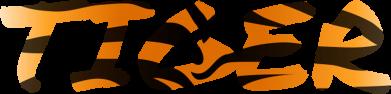 Print Sweatshirt Tiger lettering texture - PrintSalon
