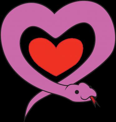 Print Men's Polo shirt Cute snake heart - PrintSalon