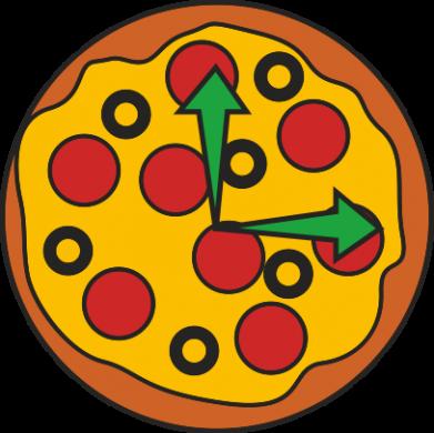 Print Bokserki męskie Time for pizza - PrintSalon
