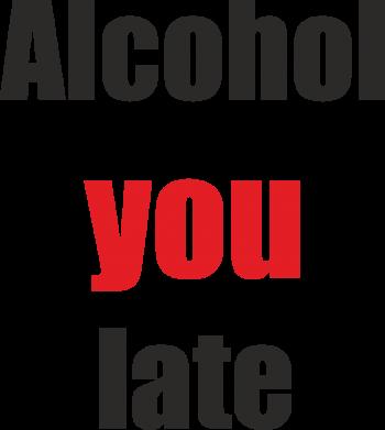 Print Etui na Xiaomi Mi6 Alcohol you late - PrintSalon