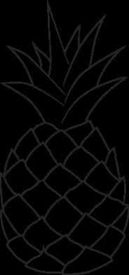 Print Koszulka Polo Pineapple contour - PrintSalon