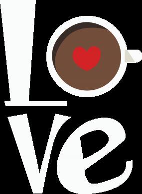 Print Bokserki męskie Love coffee - PrintSalon