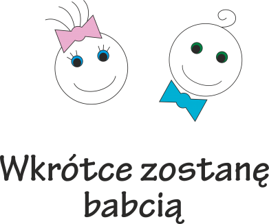 Print Męska bluza z kapturem Zostanę babcią - PrintSalon