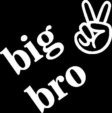 Print Damska koszulka polo Big bro - PrintSalon