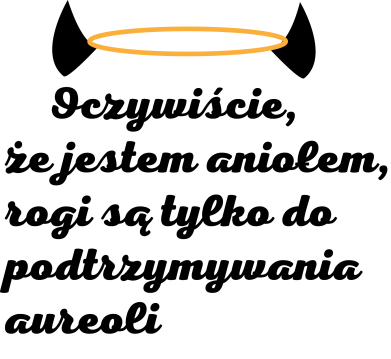 Print Etui na Xiaomi Mi6 Oczywiście, że jestem aniołem - PrintSalon