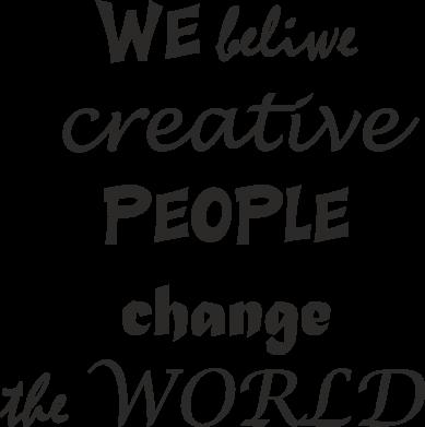 Print Mug 330ml We beliwe creative people - PrintSalon