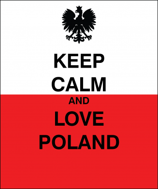 Print Mug 330ml Polish flag with an inscription - PrintSalon