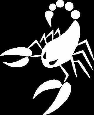 Print Damska koszulka polo Zły skorpion - PrintSalon