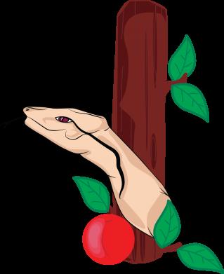 Print Etui na iPhone 11 Wąż i jabłko - PrintSalon