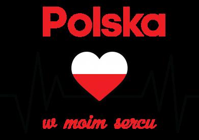 Print Bluza z kapturem męska Polska w moim sercu - PrintSalon
