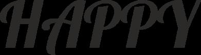 Print Etui na iPhone 11 Pro Max Happy, napis - PrintSalon