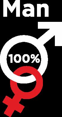 Print Plecak z przednią kieszenią 100% Man - PrintSalon