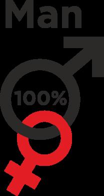 Print Etui na iPhone 11 Pro Max 100% Man - PrintSalon