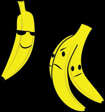 Print Sweatshirt Banana in glasses - PrintSalon
