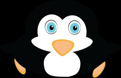 Print Damska koszulka polo Mały pingwin podnosi wzrok - PrintSalon