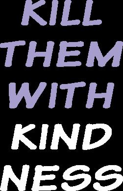 Print Plecak z przednią kieszenią Kill them with kindness - PrintSalon