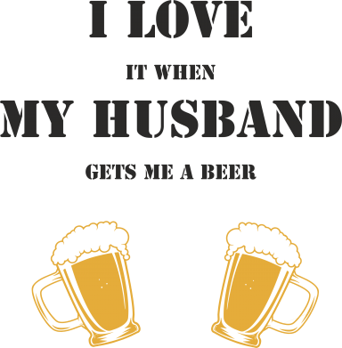 Print Mug 330ml Wife and beer - PrintSalon