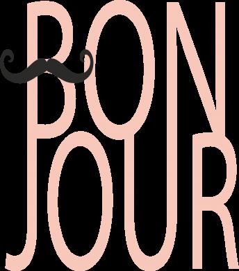 Print Damska koszulka polo Bonjour - PrintSalon