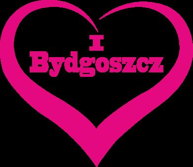Print Mug with heart shaped handle I love Bydgoszcz - PrintSalon