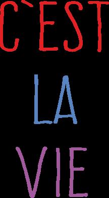 Print Męska bluza z kapturem C'est la vie - PrintSalon