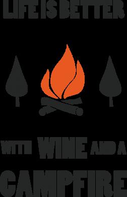 Print Baby bodysuit Wine and a campfire - PrintSalon