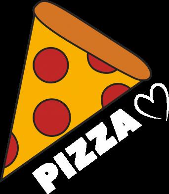 Print Koszulka Serce miłość pizzy - PrintSalon