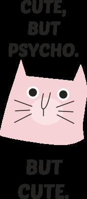 Print Etui na iPhone 11 Pro Max Cute but psycho but cute - PrintSalon