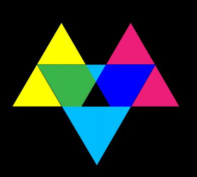 Print Etui na Xiaomi Mi6 Kolorowe trójkąty - PrintSalon