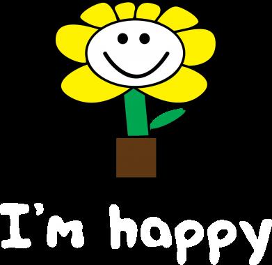 Print Męska bluza z kapturem I'm happy - PrintSalon
