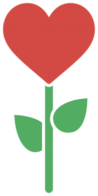 Print Damska koszulka polo Kwiat - serca - PrintSalon