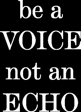 Print Męska bluza z kapturem Be a voice not an echo - PrintSalon