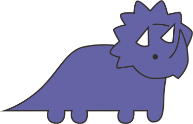 Print Plecak z przednią kieszenią Violet dino - PrintSalon