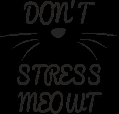 Print Mug 330ml Don't stress meowt - PrintSalon