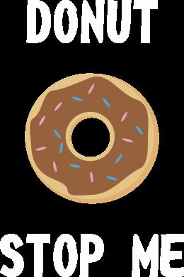 Print Męska bluza z kapturem Donut stop me - PrintSalon