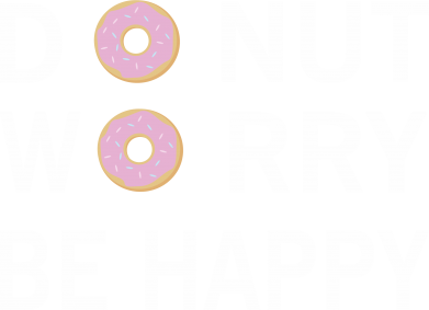 Print Męska bluza z kapturem Donut worry be happy - PrintSalon