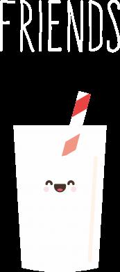 Print Plecak z przednią kieszenią Friend milk - PrintSalon