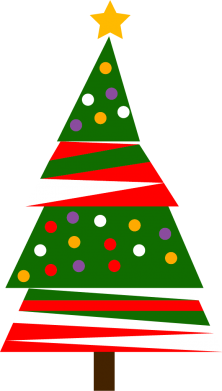 Print Sweatshirt New Year tree decorated - PrintSalon