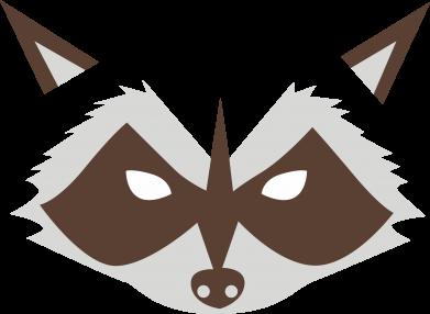 Print Notes Angle Raccoon - PrintSalon