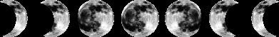 Print Etui na iPhone 11 Moon phases - PrintSalon