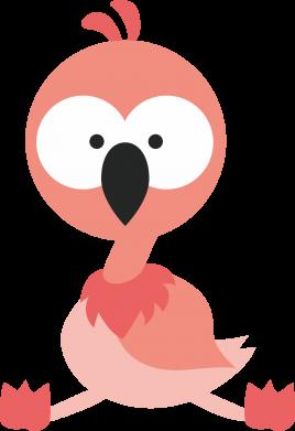 Print Baby bodysuit Flamingo - PrintSalon