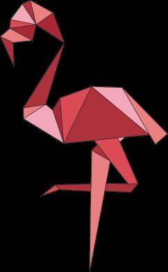 Print Bokserki męskie Geometria Flamingo - PrintSalon
