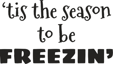 Print Water bottle 'tis the season to be freezin' - PrintSalon