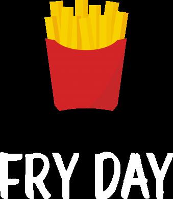 Print Damska koszulka polo Fry day - PrintSalon
