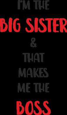 Print Etui na iPhone 11 Pro Max I'm the big sister - PrintSalon