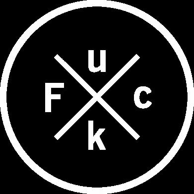Print Męska bluza z kapturem Fuck - PrintSalon