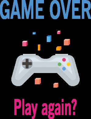 Print Etui na iPhone 11 Pro Max Game over. Play again? - PrintSalon