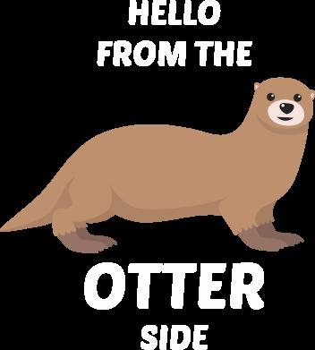 Print Plecak z przednią kieszenią Hello from the otter side - PrintSalon