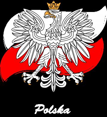 Print Notes Herb Polski na tle flagi - PrintSalon
