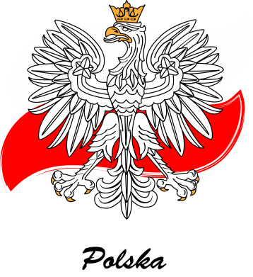 Print Koszulka Herb Polski na tle flagi - PrintSalon