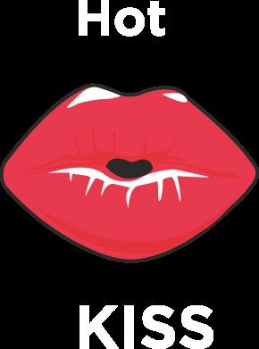 Print Plecak z przednią kieszenią Hot Kiss - PrintSalon